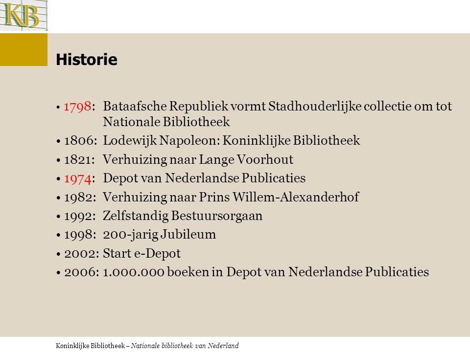 Koninklijke Bibliotheek – Nationale bibliotheek van Nederland Wetenschappelijke bibliotheek: Op locatie