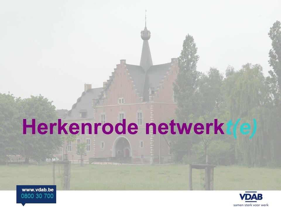 www.vdab.be 0800 30 700 Herkenrode netwerkt(e)