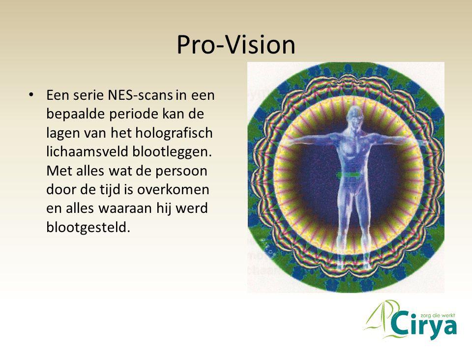 Pro-Vision • Een serie NES-scans in een bepaalde periode kan de lagen van het holografisch lichaamsveld blootleggen. Met alles wat de persoon door de
