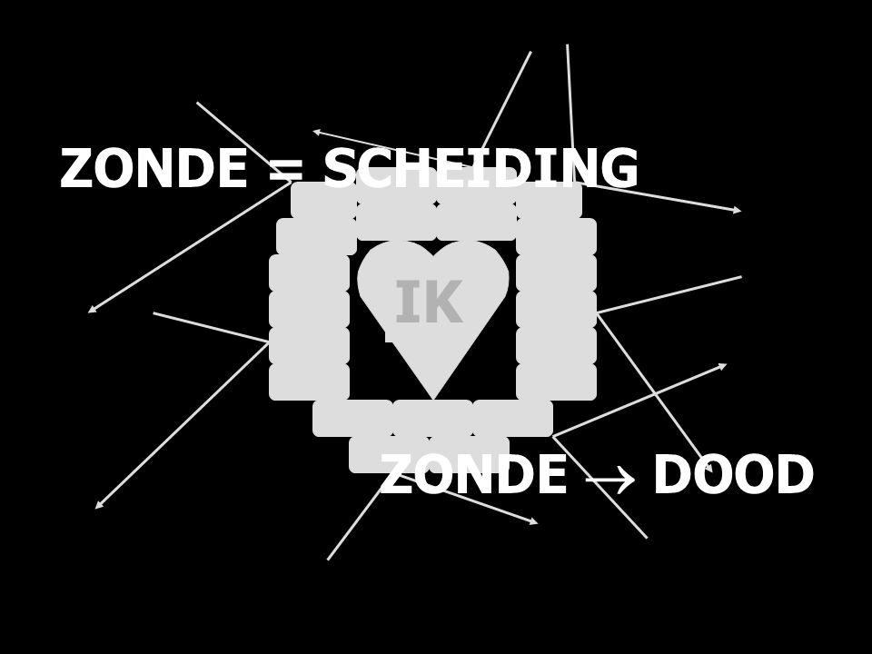 ZONDE = SCHEIDING ZONDE  DOOD