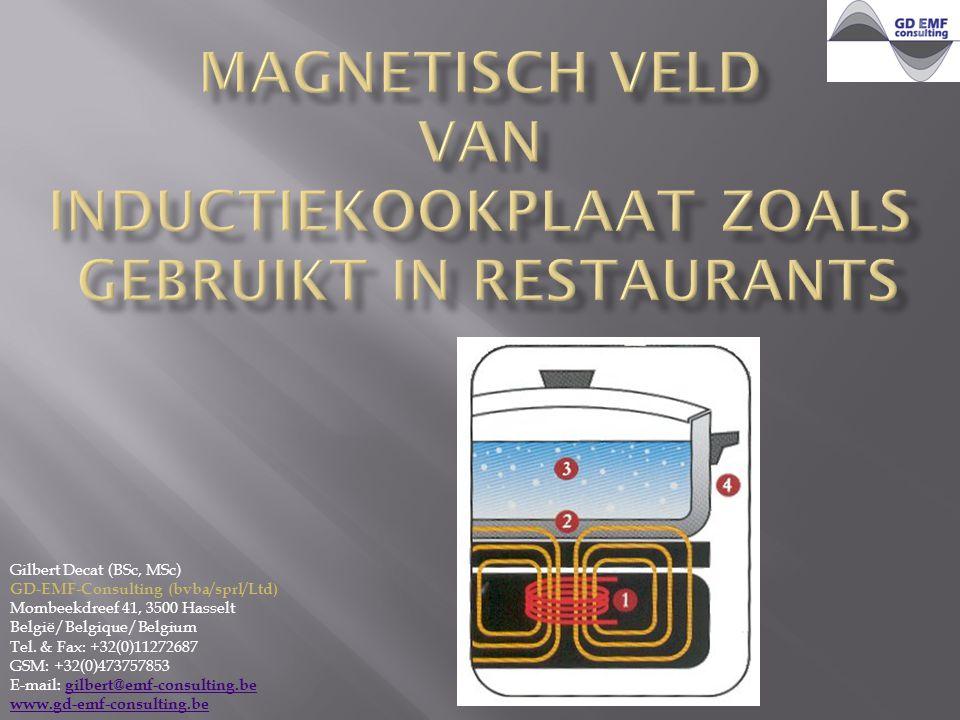 Gilbert Decat (BSc, MSc) GD-EMF-Consulting (bvba/sprl/Ltd) Mombeekdreef 41, 3500 Hasselt België/Belgique/Belgium Tel.