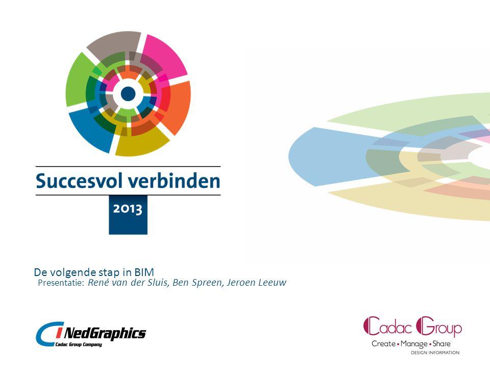 Presentatie: De volgende stap in BIM René van der Sluis, Ben Spreen, Jeroen Leeuw