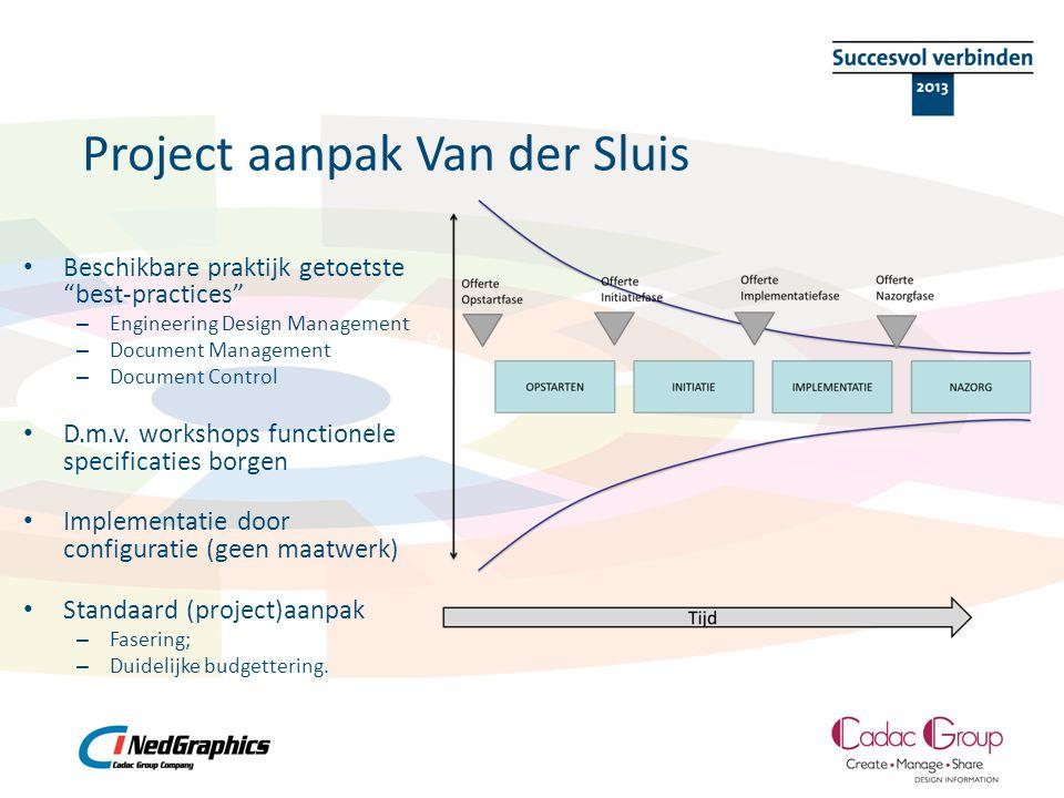 """Project aanpak Van der Sluis • Beschikbare praktijk getoetste """"best-practices"""" – Engineering Design Management – Document Management – Document Contro"""