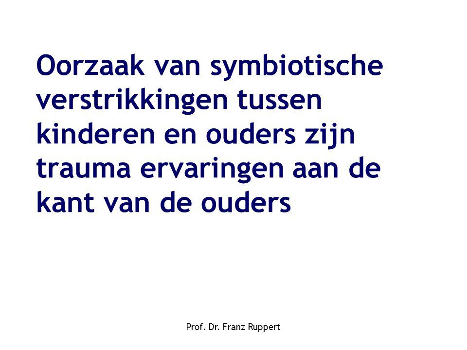 Prof. Dr. Franz Ruppert Oorzaak van symbiotische verstrikkingen tussen kinderen en ouders zijn trauma ervaringen aan de kant van de ouders