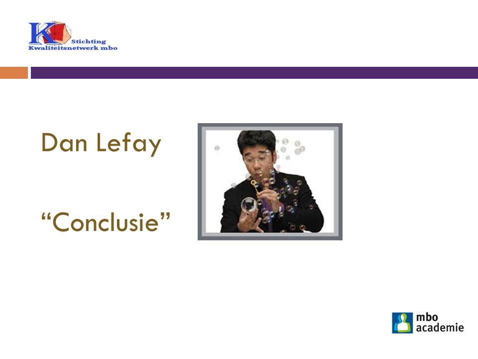 """Dan Lefay """"Conclusie"""""""