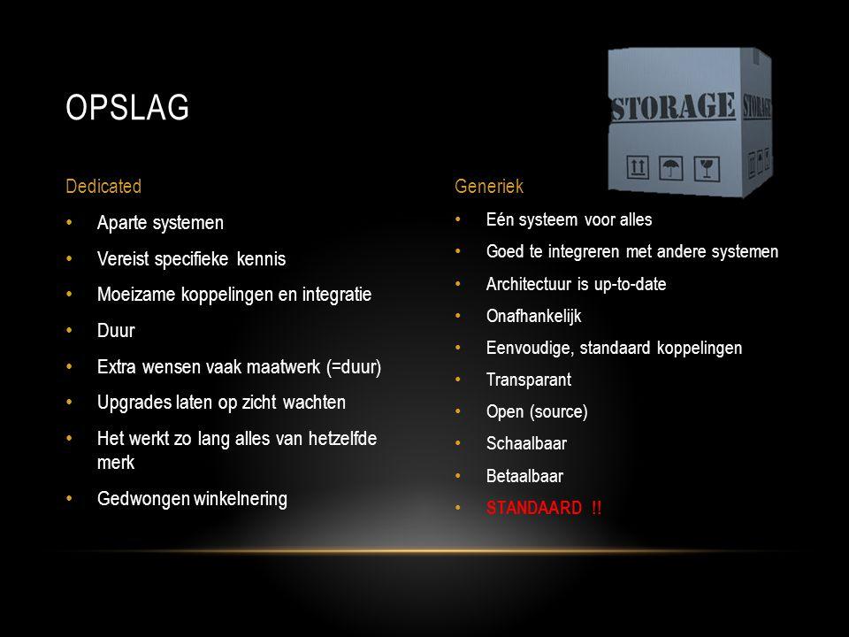 Sleutelwoord is STANDAARDISATIE HL7 • Tekst-based standaard voor (alfa)numerieke data DICOM • Standaard voor opslag en transport van medische beelden • 2000: 12-afleidingen Rust-ECG in de DICOM standaard IHE • Profielen op basis van standaarden, m.n.