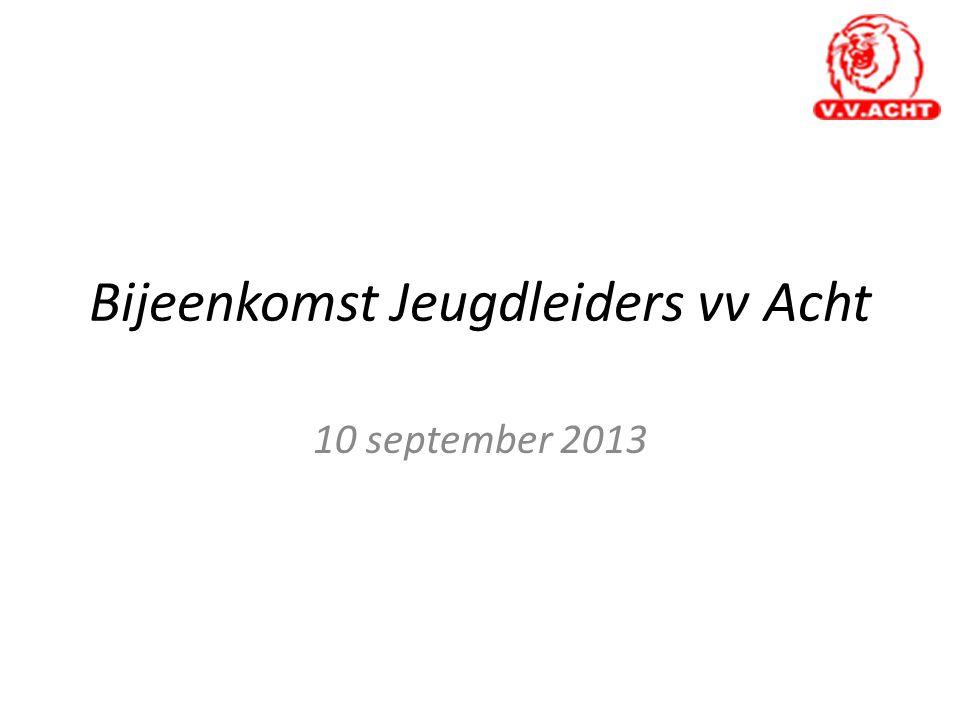 Bijeenkomst Jeugdleiders vv Acht 10 september 2013