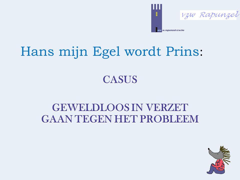 Hans mijn Egel wordt Prins : CASUS GEWELDLOOS IN VERZET GAAN TEGEN HET PROBLEEM