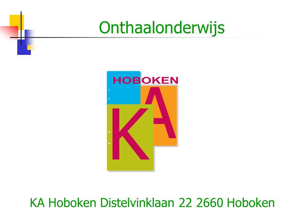 KA Hoboken Distelvinklaan 22 2660 Hoboken Onthaalonderwijs