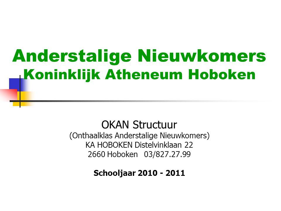 Anderstalige Nieuwkomers Koninklijk Atheneum Hoboken OKAN Structuur (Onthaalklas Anderstalige Nieuwkomers) KA HOBOKEN Distelvinklaan 22 2660 Hoboken03