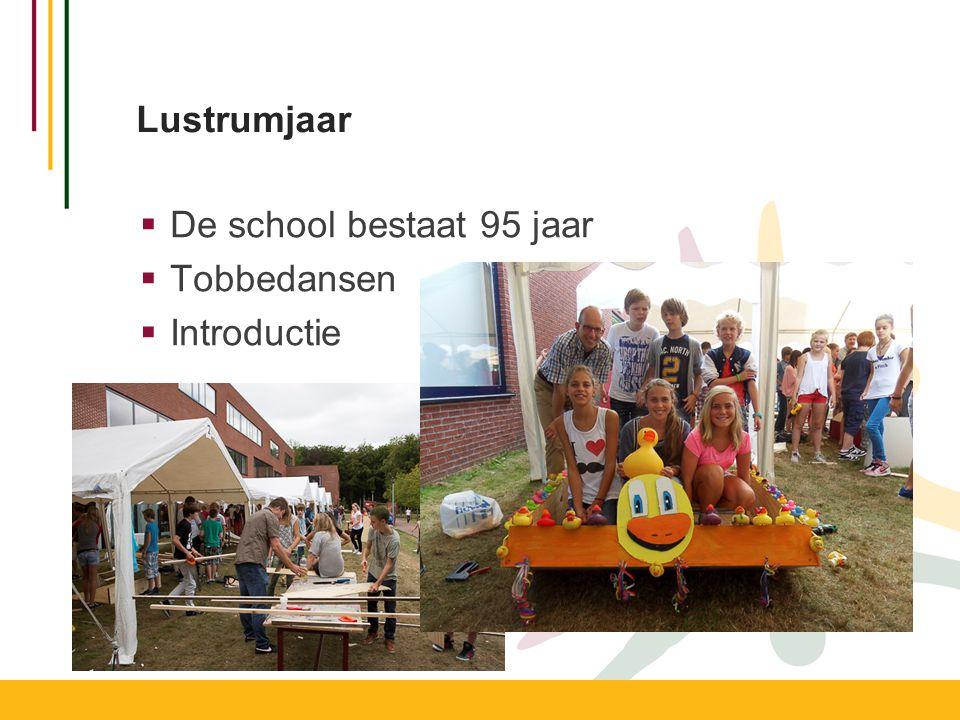 Lustrumjaar  De school bestaat 95 jaar  Tobbedansen  Introductie