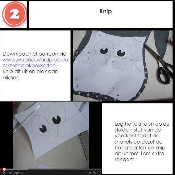 Knip Download het patroon via www.wubbel.wordpress.co m/zelfmaakpakketten Knip dit uit en plak aan elkaar.