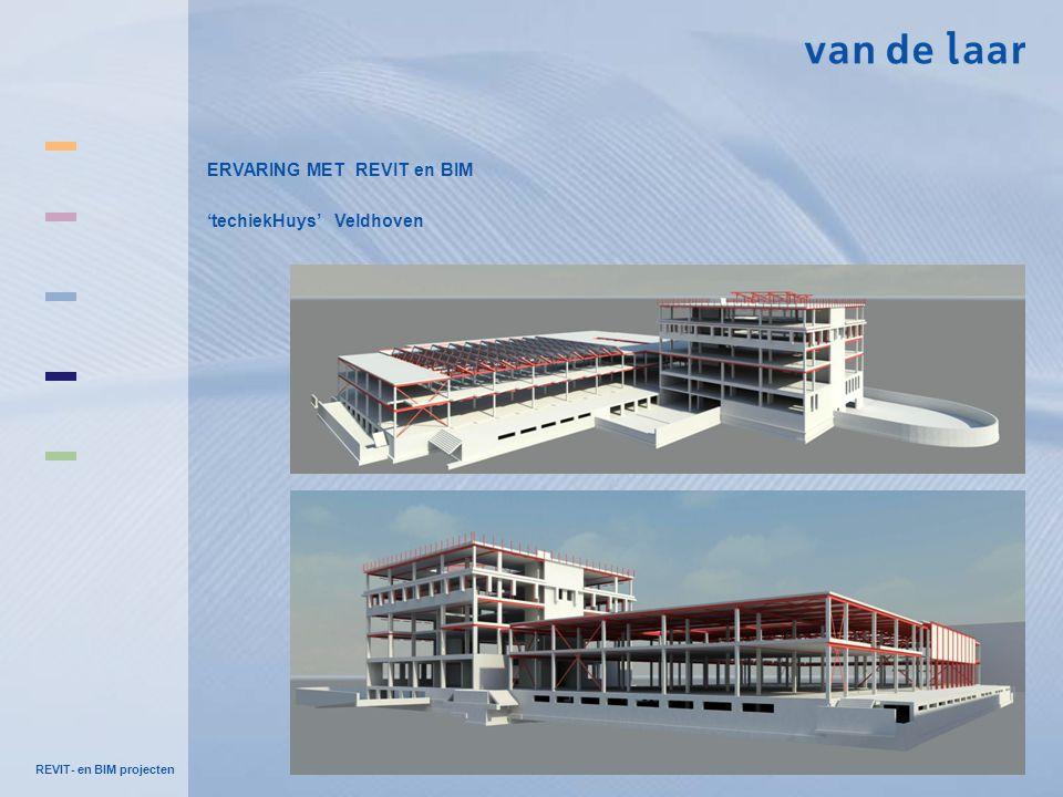 REVIT- en BIM projecten ERVARING MET REVIT en BIM 'techiekHuys' Veldhoven