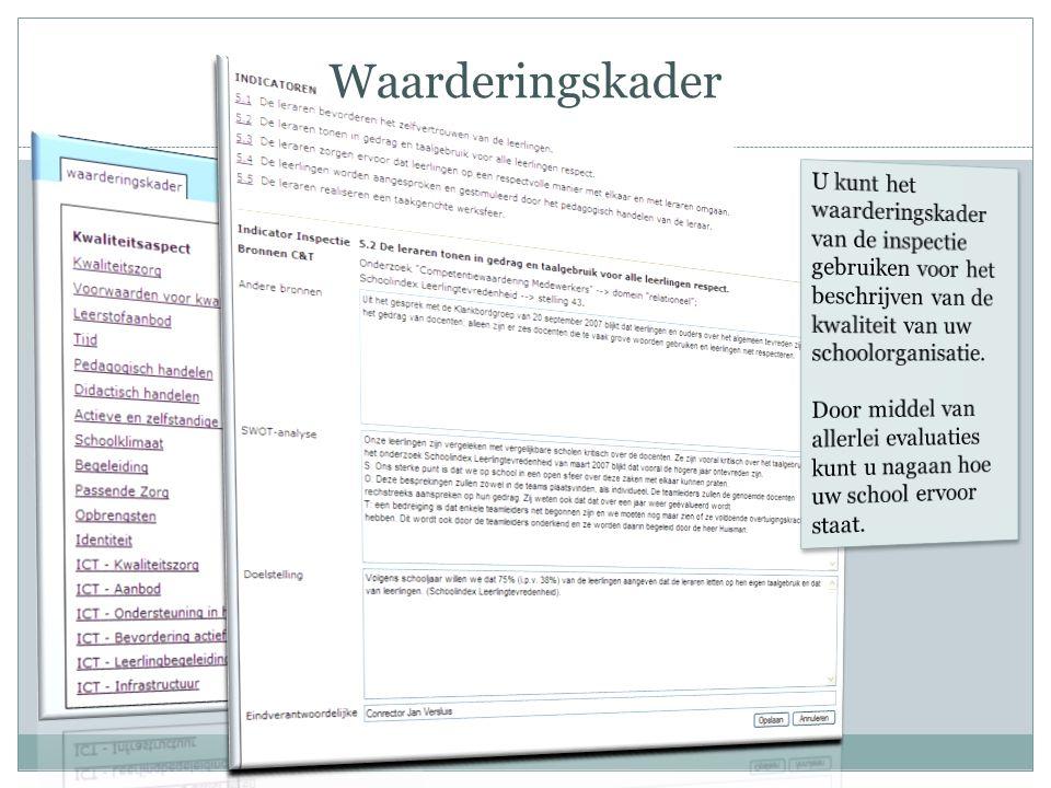 Uitgebreide benchmarks, ook voor pro Elke school(locatie) krijgt een aantal labels, die alle als filter werken om resultaten te vergelijken.