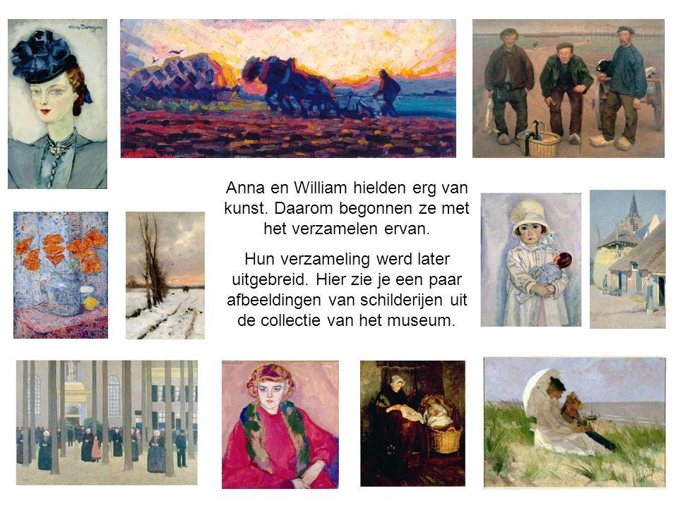 Anna en William hielden erg van kunst. Daarom begonnen ze met het verzamelen ervan. Hun verzameling werd later uitgebreid. Hier zie je een paar afbeel