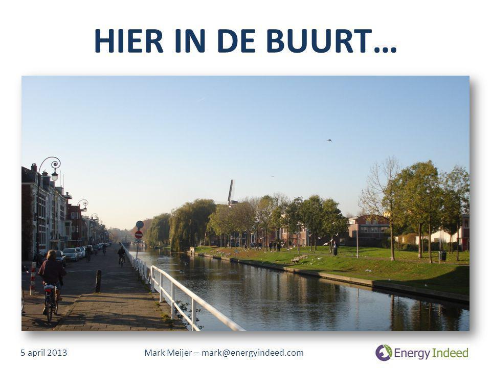 HIER IN DE BUURT… 5 april 2013 Mark Meijer – mark@energyindeed.com