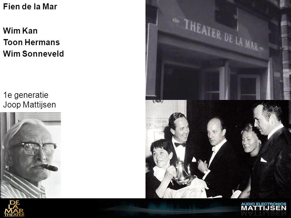 1e generatie Joop Mattijsen Fien de la Mar Wim Kan Wim Sonneveld Toon Hermans