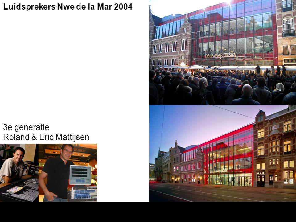 3e generatie Roland & Eric Mattijsen Luidsprekers Nwe de la Mar 2004