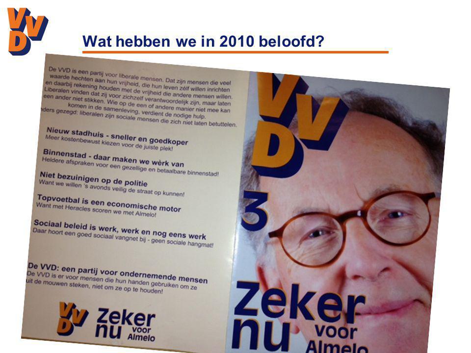 Wat hebben we in 2010 beloofd