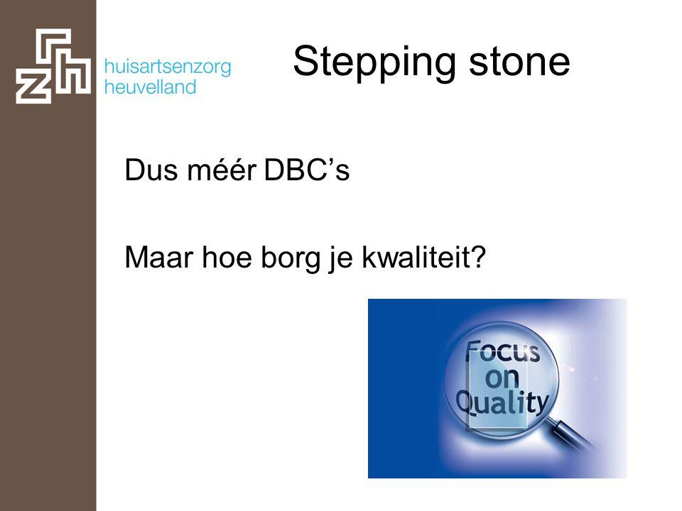 Stepping stone Dus méér DBC's Maar hoe borg je kwaliteit?