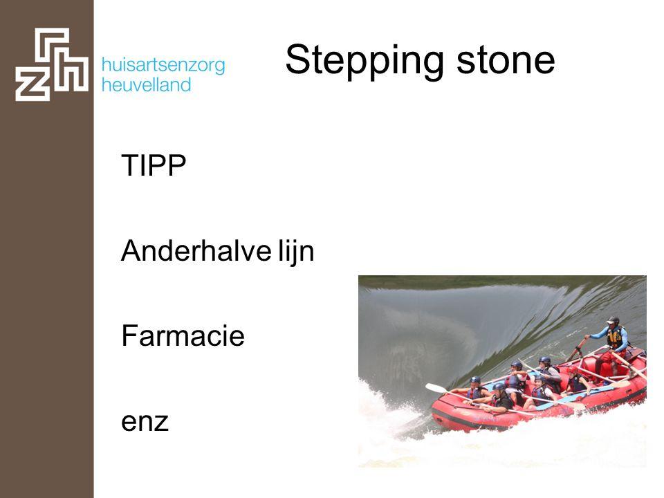 Stepping stone TIPP Anderhalve lijn Farmacie enz