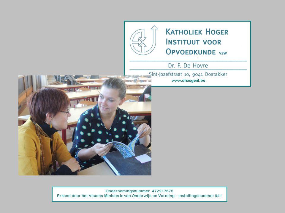 Ondernemingsnummer 472217675 Erkend door het Vlaams Ministerie van Onderwijs en Vorming – instellingsnummer 941