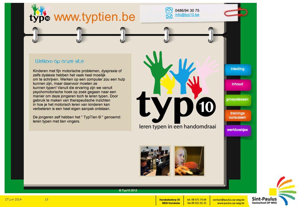 27 juni 2014 13 www.typtien.be