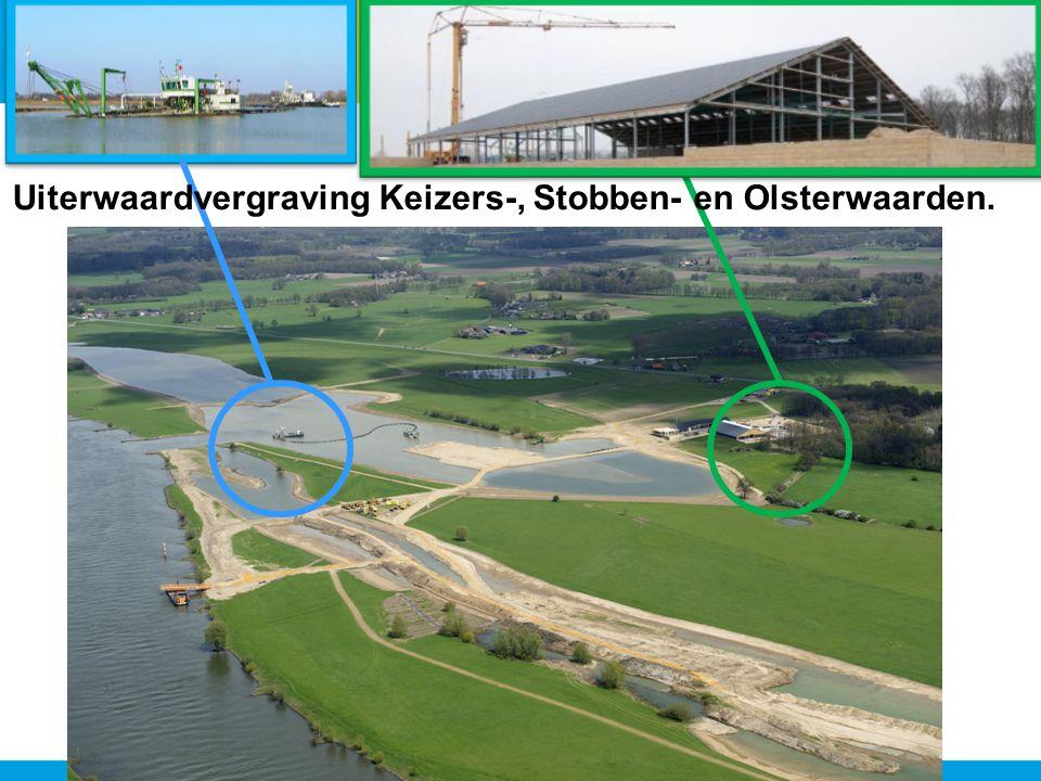 Uiterwaardvergraving Keizers-, Stobben- en Olsterwaarden.