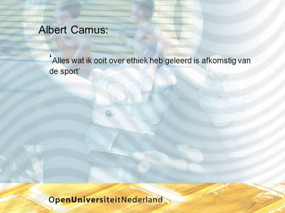 Albert Camus: ' Alles wat ik ooit over ethiek heb geleerd is afkomstig van de sport'