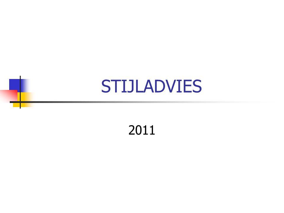 STIJLADVIES 2011