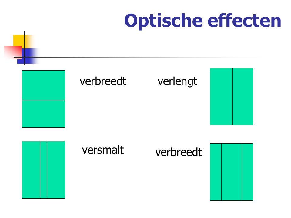 Optische effecten verbreedtverlengt versmalt verbreedt