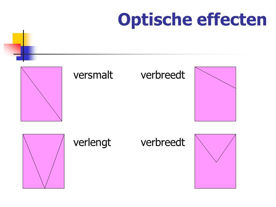 Optische effecten verlengt versmaltverbreedt