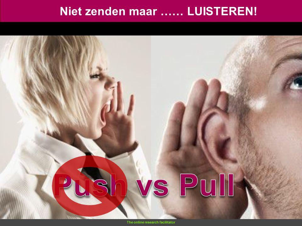 The online research facilitator Niet zenden maar …… LUISTEREN!