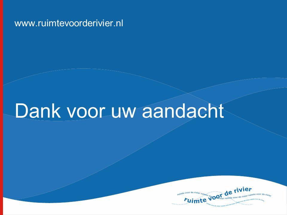 Dank voor uw aandacht www.ruimtevoorderivier.nl