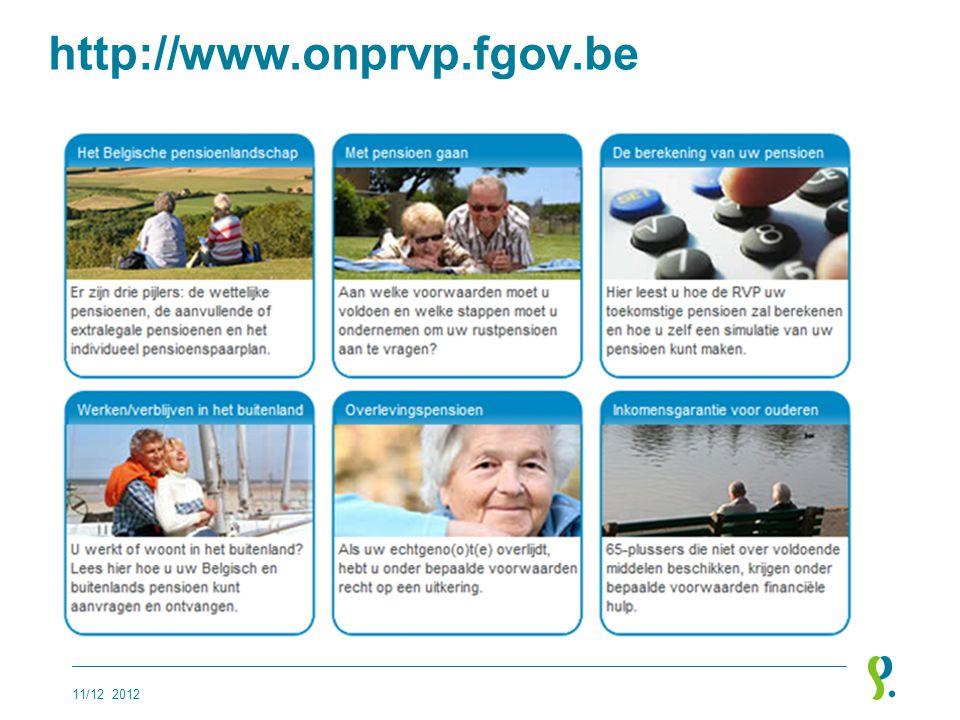 http://www.onprvp.fgov.be 11/12 2012
