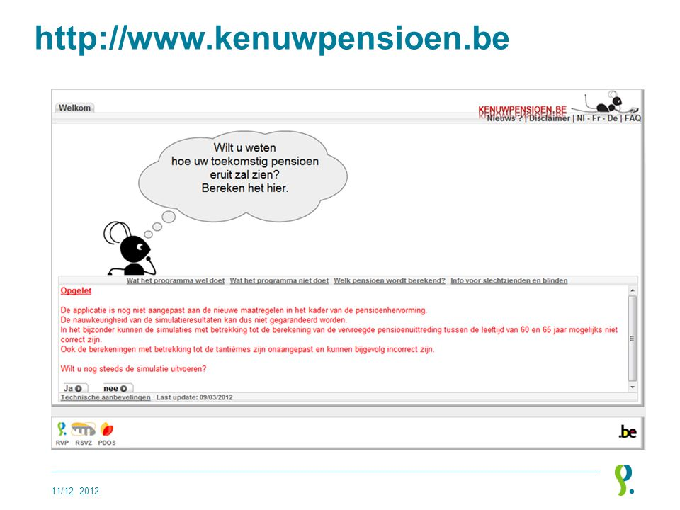 www.mypension.be 11/12 2012