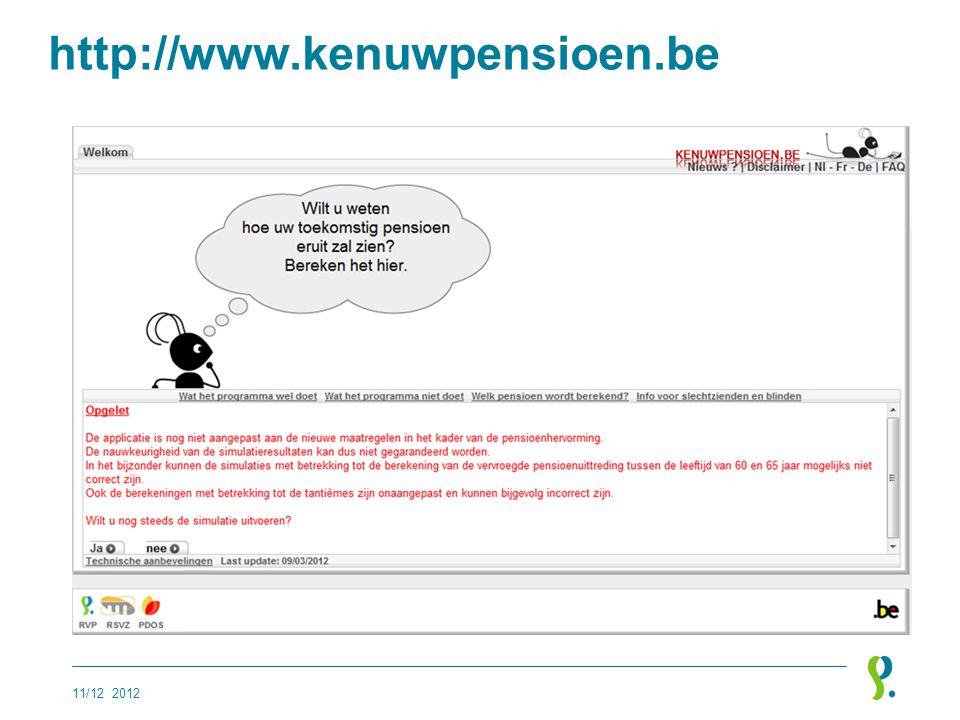 http://www.kenuwpensioen.be 11/12 2012