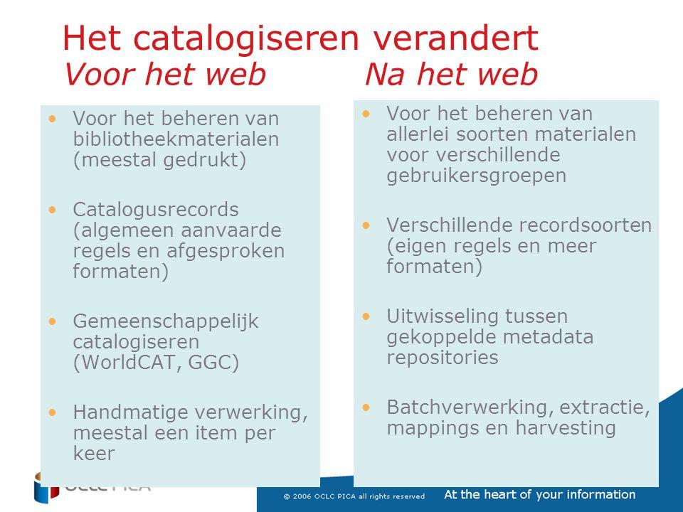 Bronnen (1) –Themanummer titelbeschrijven: Open, jaargang 14, nr 5, mei 1982 –Leidse boekjes: •http://www.tiele-stichting.nl/tiele.htmhttp://www.tiele-stichting.nl/tiele.htm •http://www.rug.nl/cit/organisatie/pictogram/archief/2000-7-3/leidseboekjes.htmhttp://www.rug.nl/cit/organisatie/pictogram/archief/2000-7-3/leidseboekjes.htm –IFLA •Scatnews juni 07: http://www.ifla.org/VII/s13/scatn/SCATNews27.pdf http://www.ifla.org/VII/s13/scatn/SCATNews27.pdf •Scatnews jan 07: http://www.ifla.org/VII/s13/scatn/SCATNews26.pdf http://www.ifla.org/VII/s13/scatn/SCATNews26.pdf •Notulen aug 2006: http://www.ifla.org/VII/s13/meet/CatMinutes06.pdf http://www.ifla.org/VII/s13/meet/CatMinutes06.pdf •ISBD algemeen: http://www.ifla.org/VII/s13/isbdrg/index.htm http://www.ifla.org/VII/s13/isbdrg/index.htm •Consolidated ISBD: http://www.ifla.org/VII/s13/pubs/ISBD-consolidated- July2006.pdfhttp://www.ifla.org/VII/s13/pubs/ISBD-consolidated- July2006.pdf –RDA: •Homepage: http://www.collectionscanada.ca/jsc/rda.html http://www.collectionscanada.ca/jsc/rda.html •Roy Tennant: http://www.libraryjournal.com/article/CA6422278.html http://www.libraryjournal.com/article/CA6422278.html •Karin Coyle: http://www.dlib.org/dlib/january07/coyle/01coyle.html http://www.dlib.org/dlib/january07/coyle/01coyle.html –Working Group on the Future of bibliographic Control: http://www.loc.gov/bibliographic-future http://www.loc.gov/bibliographic-future