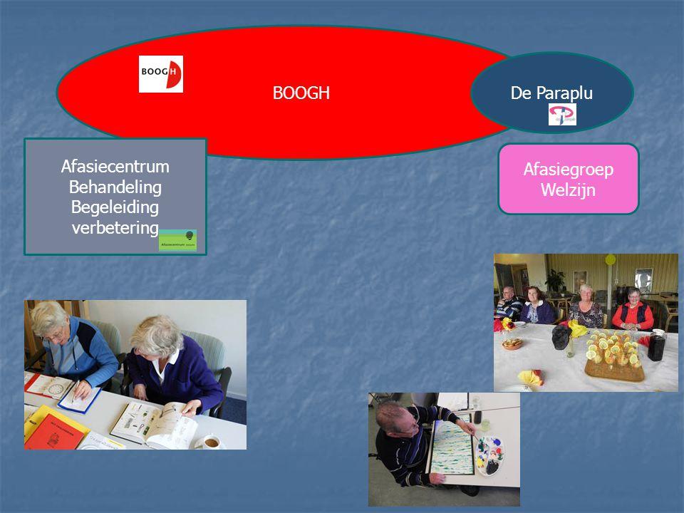 BOOGH De Paraplu Afasiecentrum Behandeling Begeleiding verbetering Afasiegroep Welzijn