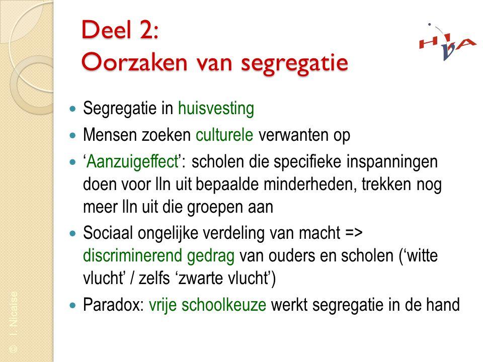 © I.Nicaise Deel 4: Strategieën voor de-segregatie 1.'Softe' maatregelen (bv.