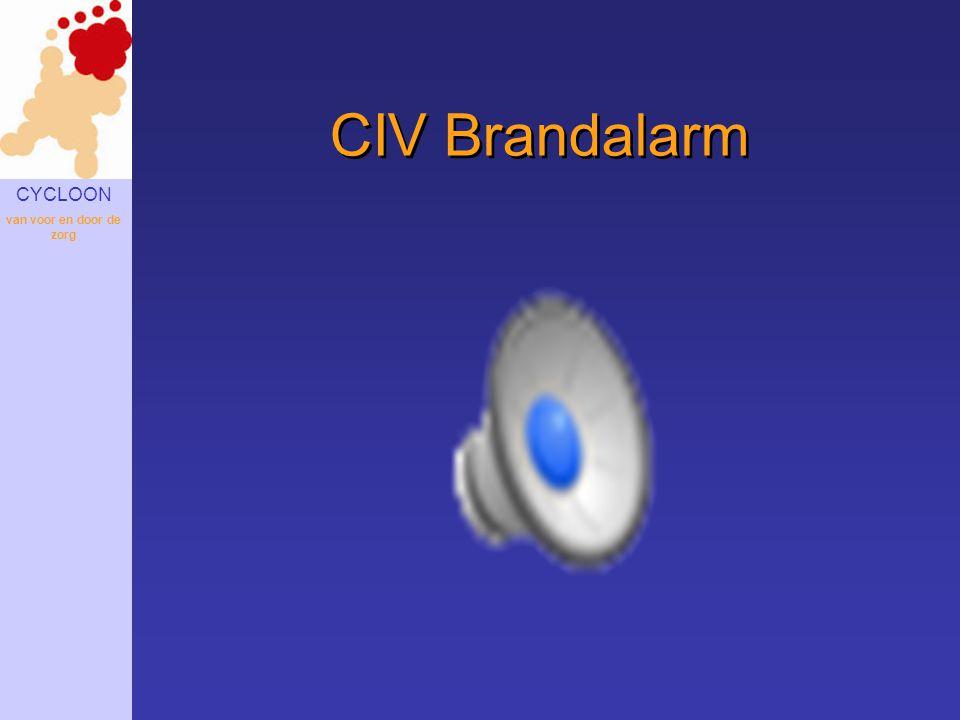 CYCLOON van voor en door de zorg CIV Brandalarm