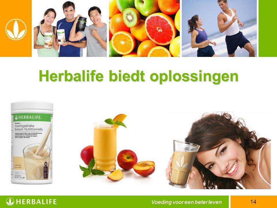 Voeding voor een beter leven 14 Herbalife biedt oplossingen