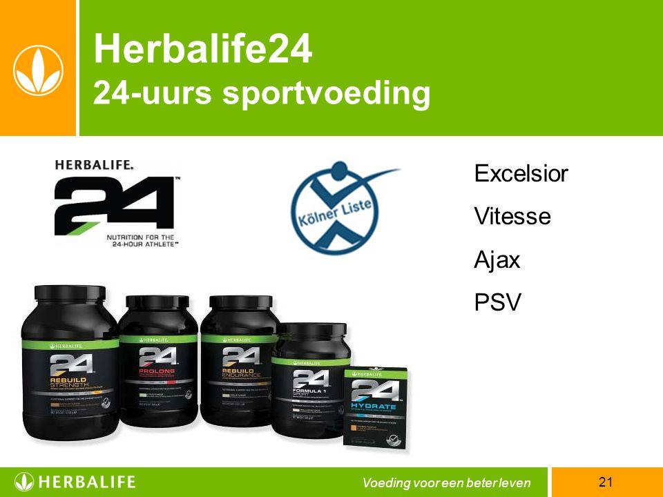 Voeding voor een beter leven 21 Herbalife24 24-uurs sportvoeding Excelsior Vitesse Ajax PSV