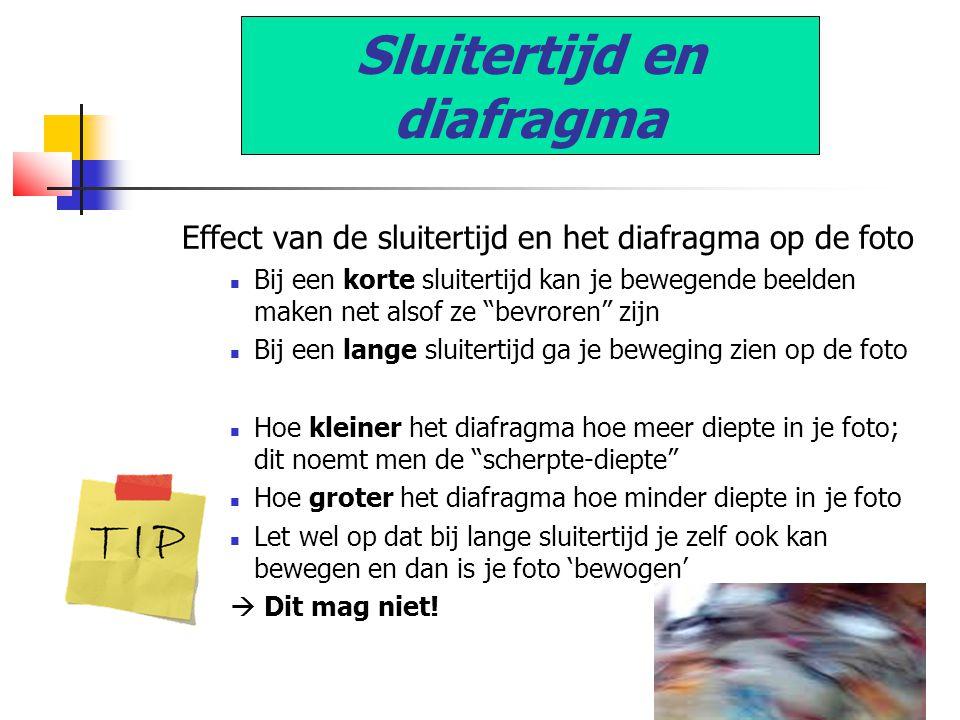 """Effect van de sluitertijd en het diafragma op de foto  Bij een korte sluitertijd kan je bewegende beelden maken net alsof ze """"bevroren"""" zijn  Bij ee"""