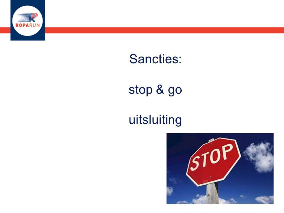 Sancties: stop & go uitsluiting