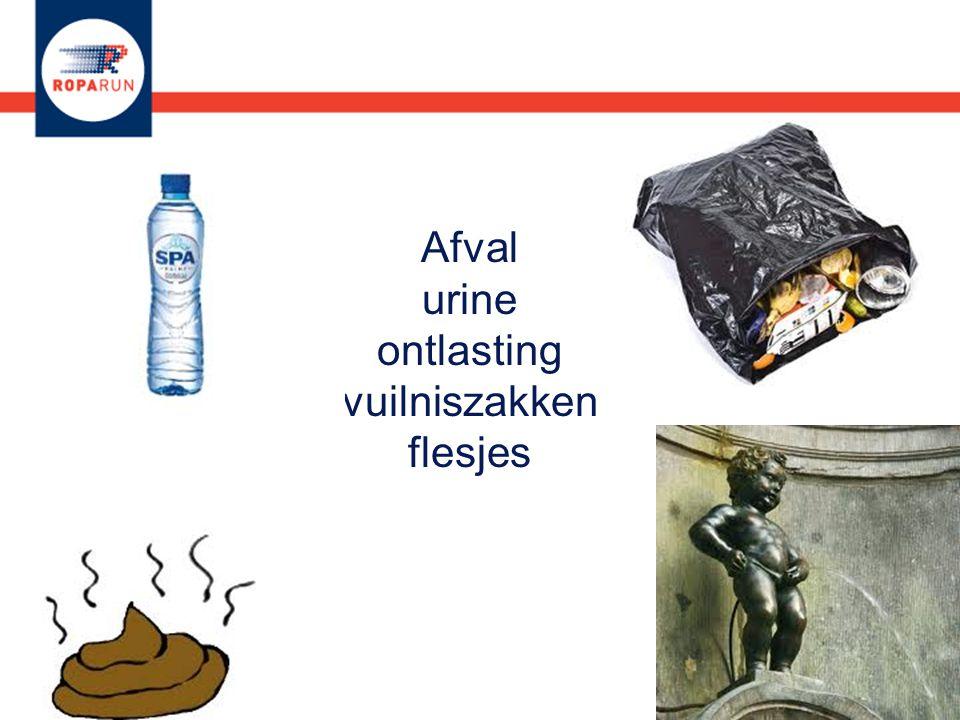 Afval urine ontlasting vuilniszakken flesjes