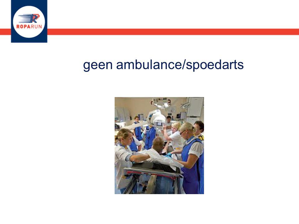 geen ambulance/spoedarts