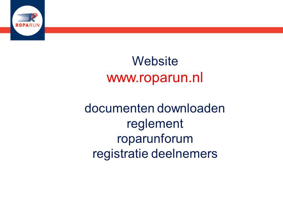 Website www.roparun.nl documenten downloaden reglement roparunforum registratie deelnemers