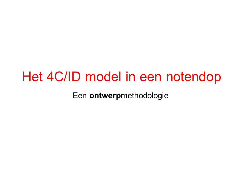 Het 4C/ID model in een notendop Een ontwerpmethodologie