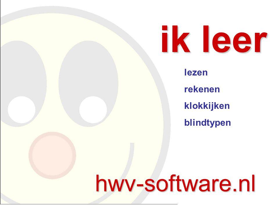ik leer hwv-software.nl lezen rekenen klokkijken blindtypen